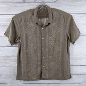 TOMMY BAHAMA Men Silk Button Front Short Slv Shirt
